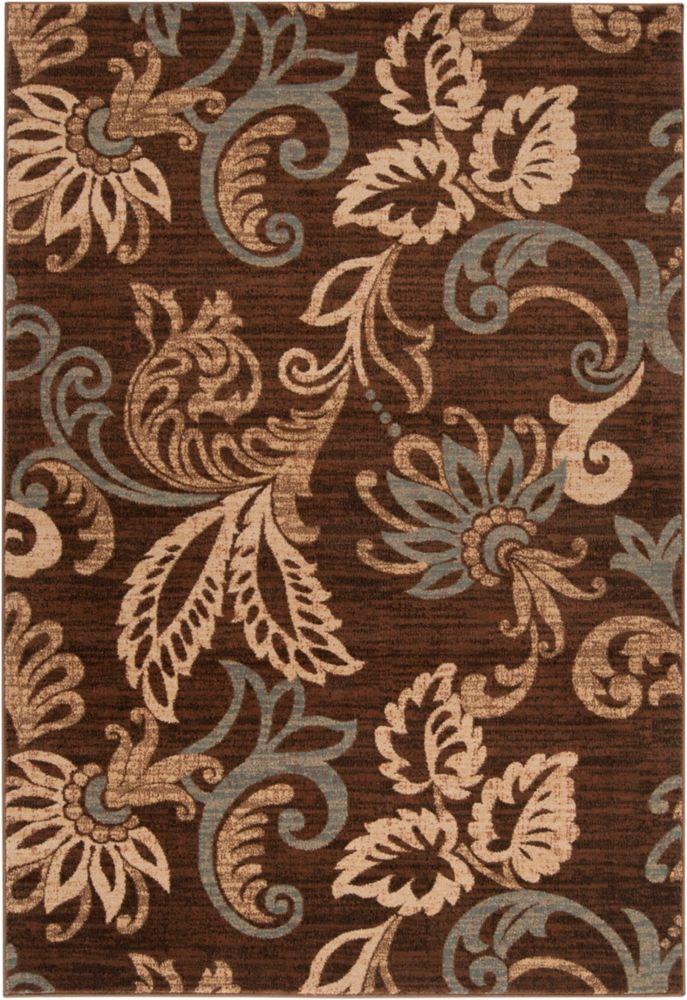 Artistic Weavers Pokigra Brown 5 ft. 3-inch x 7 ft. 6-inch Indoor Transitional Rectangular Area Rug