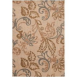 Artistic Weavers Carpette d'intérieur, 5 pi 3 po x 73 pi 6 po, style transitionnel, rectangulaire, havane Pontoea