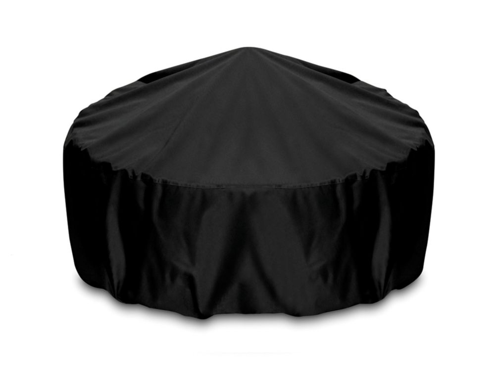 36-inch Outdoor Fire Pit/Table Cover in Black