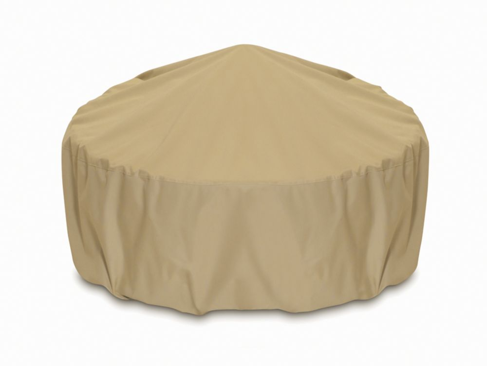 36-inch Outdoor Fire Pit/Table Cover in Khaki