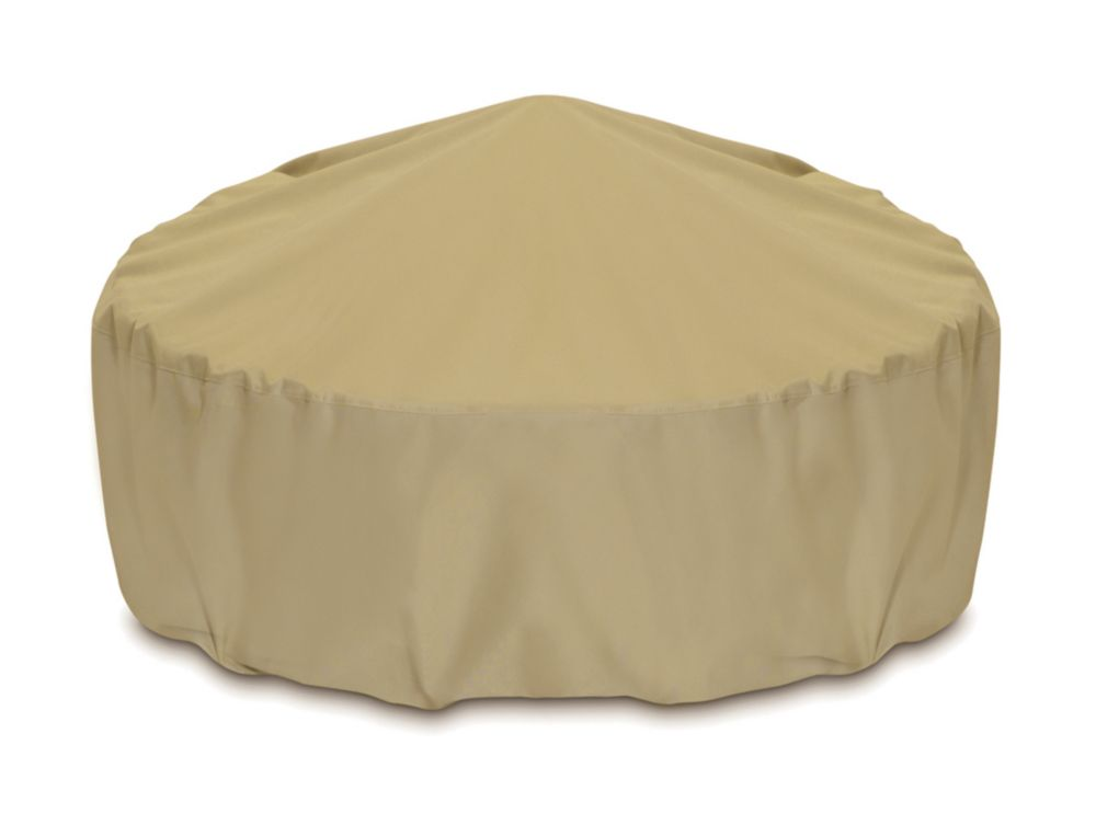 48-inch Outdoor Fire Pit/Table Cover in Khaki