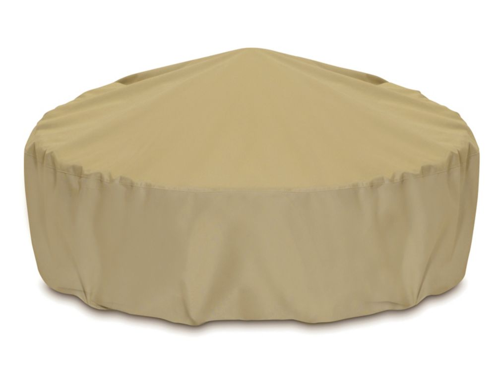 Two Dogs Designs 60-inch Outdoor Fire Pit/Table Cover in Khaki