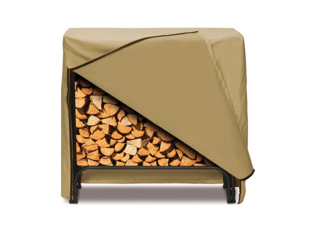 Log Rack Cover, Khaki - 48 Inches