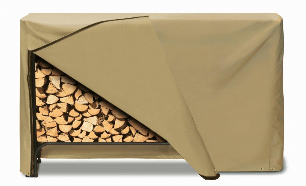 Log Rack Cover, Khaki - 96 Inches