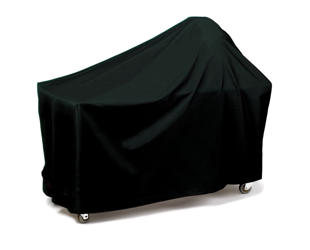 Round Or Egg Shape With Long Table - Black Grill Cover