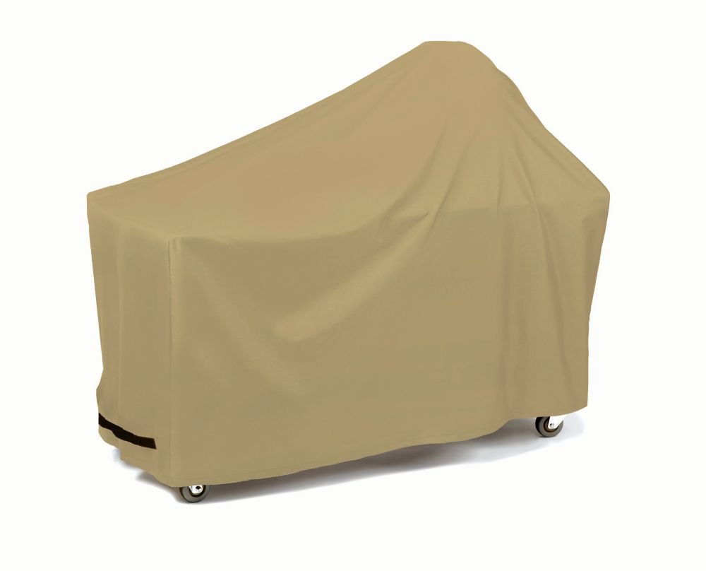 Round Or Egg Shape With Long Table - Khaki Grill Cover