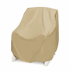 Oversized Outdoor High Back Chair Cover in Khaki