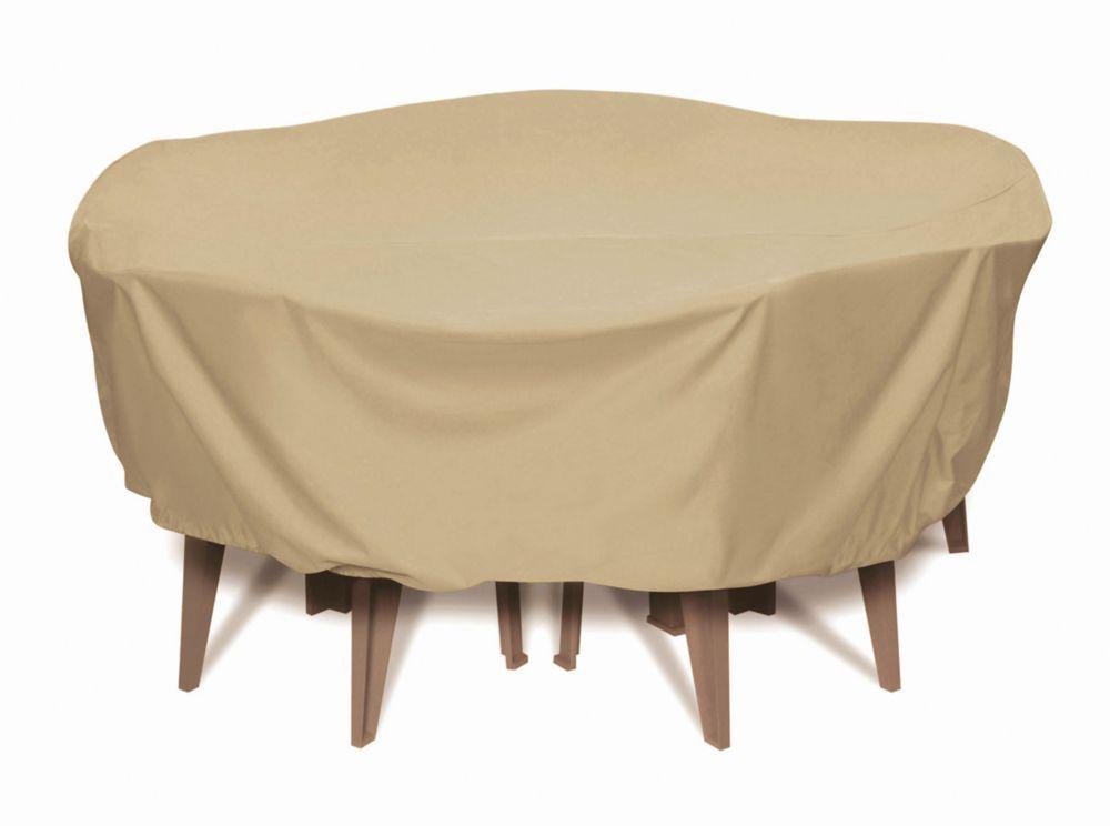 Housse Pour Table - Kaki - Ronde 84 Pouces