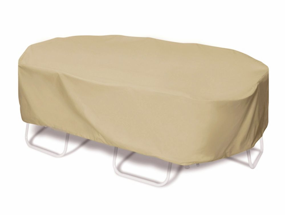 110-inch Oval / Rectangular Outdoor Table or Chat Set Cover in Khaki