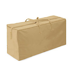 Two Dogs Designs Outdoor Cushion Storage Bag in Khaki