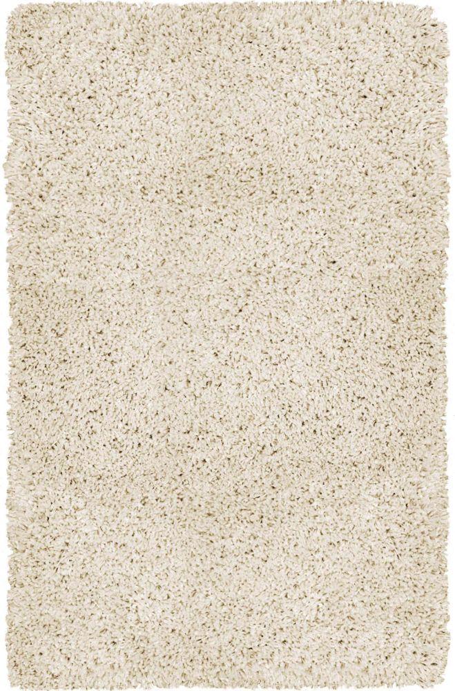 5 Feet 3 Inch x 7 Feet 5 Inch Gallery Shag Rug - Off White