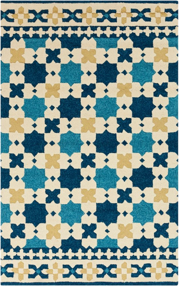 Dolores Sapphire Blue Polypropylene Indoor/Outdoor - 8 Ft. x 10 Ft. 6 In. Area Rug Dolores-D in Canada