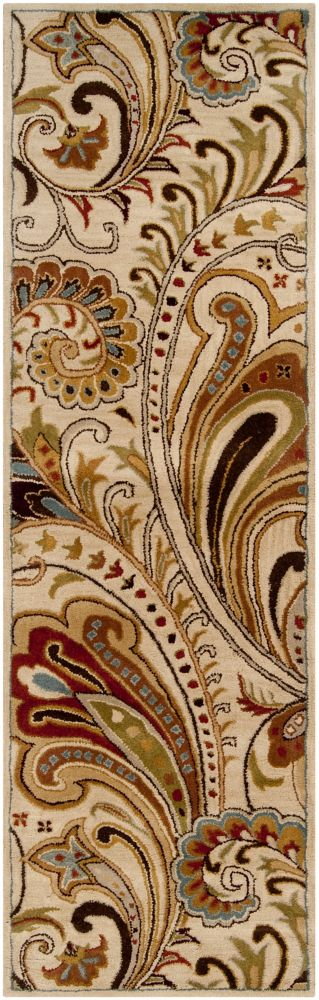 Linares Ivory Wool Runner - 2 Ft. 6 In. x 8 Ft. Area Rug