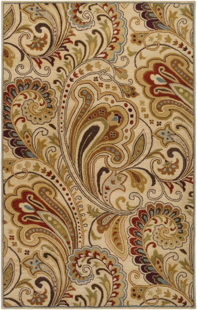 Linares Ivory Wool  - 5 Ft. x 8 Ft. Area Rug
