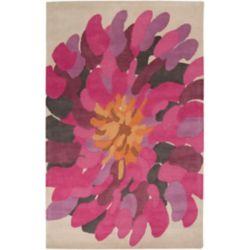 Artistic Weavers Carpette d'intérieur, 5 pi x 8 pi, style transitionnel, rectangulaire, rose Coronel