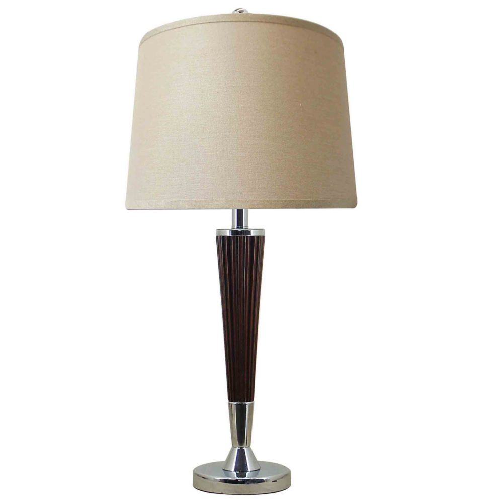 hampton bay table lamp the home depot canada. Black Bedroom Furniture Sets. Home Design Ideas
