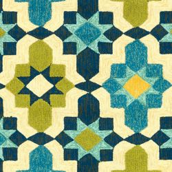 Artistic Weavers Baramit Blue 2 ft. x 3 ft. Indoor/Outdoor Transitional Rectangular Accent Rug