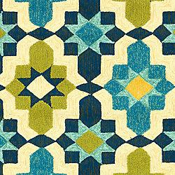 Artistic Weavers Tapis de passage d'intérieur/extérieur, 8 pi x 10 pi 6 po, style transitionnel, rectangulaire, bleu Baramit