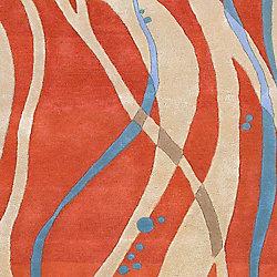 Artistic Weavers Carpette d'intérieur, 5 pi x 8 pi, style transitionnel, rectangulaire, orange Apoteri