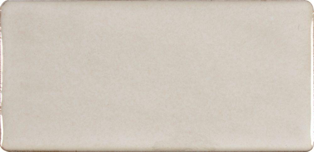 Carreaux de céramique muraux vernissés Antique White de 3 po x 6 po fabriqués à la main Tile (1 p...