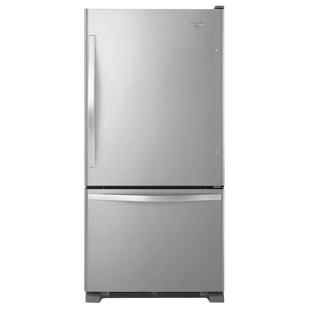 22.1 cu. ft. Refrigerator with Bottom Mount Freezer and SpillGuard Glass Shelves in Stainless Steel - ENERGY STAR®