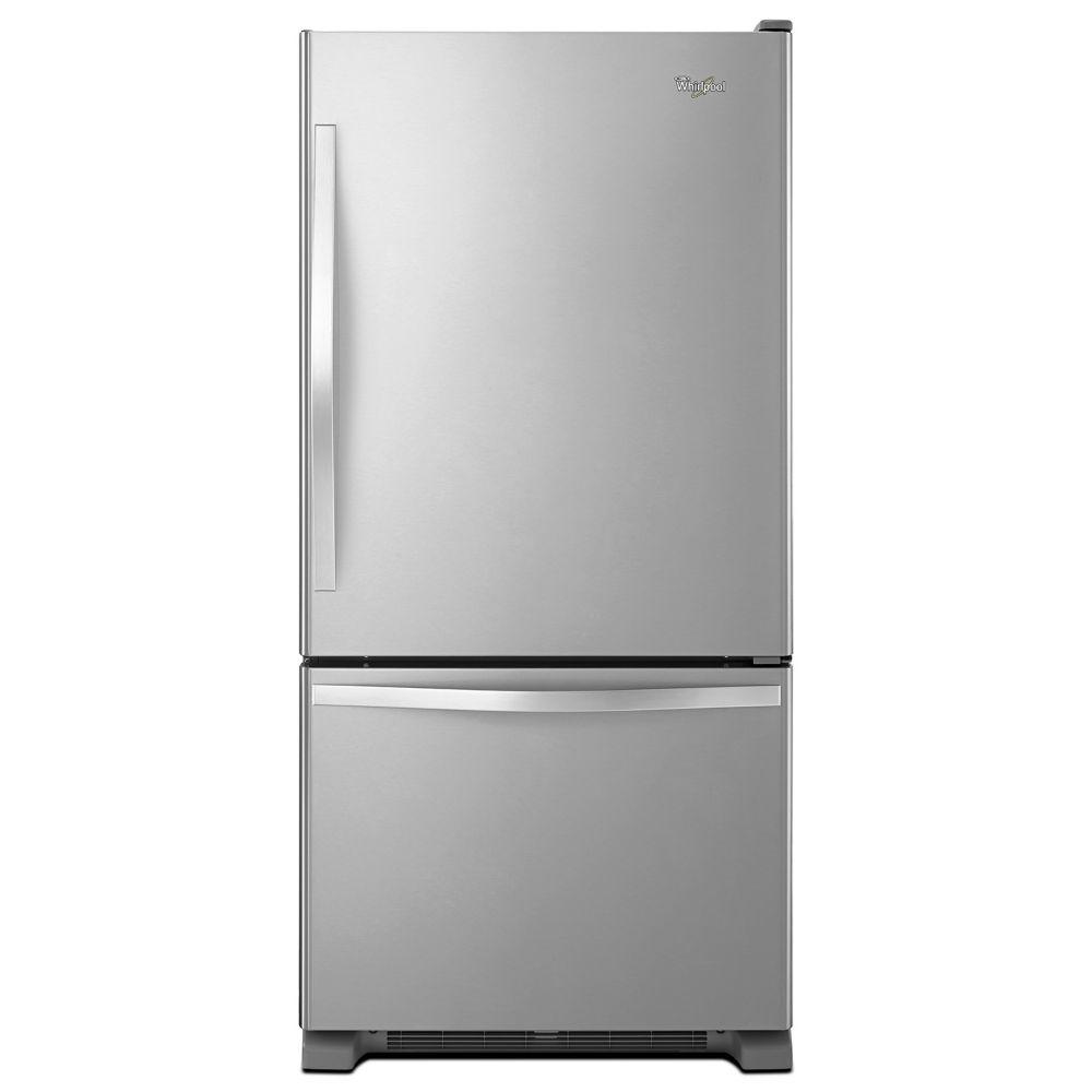 30-inch W 18.7 cu. ft. Bottom Freezer Refrigerator in Stainless Steel - ENERGY STAR®
