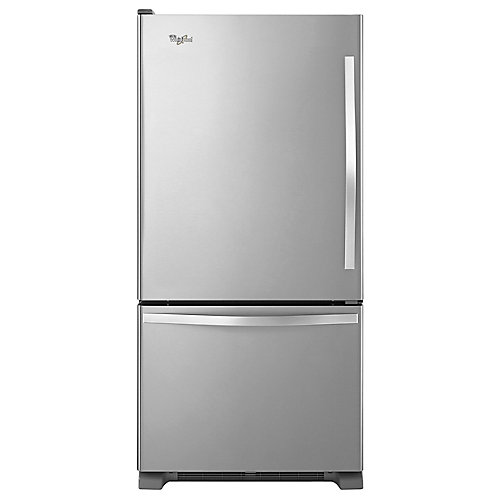 30-inch W 19 cu. ft. Bottom Freezer Refrigerator in Monochromatic Stainless Steel - ENERGY STAR®