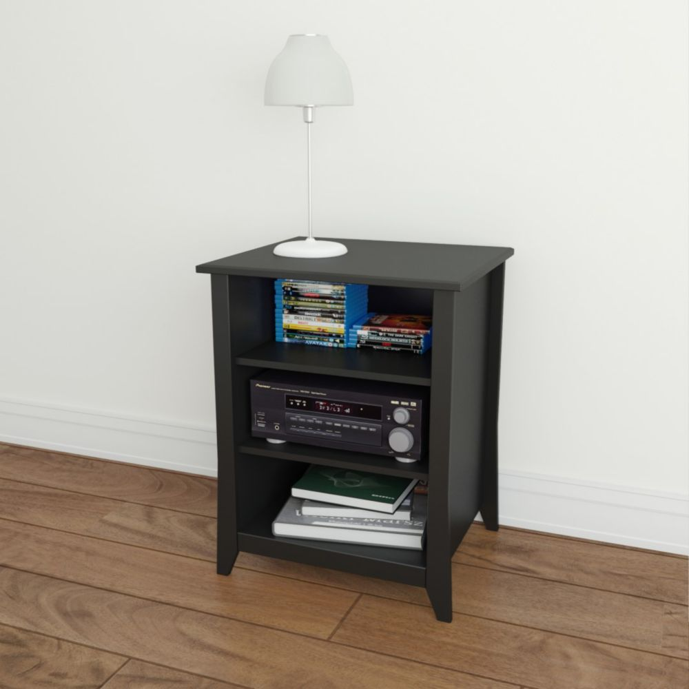 nexera cabinet de rangement audio tuxedo the home depot canada. Black Bedroom Furniture Sets. Home Design Ideas