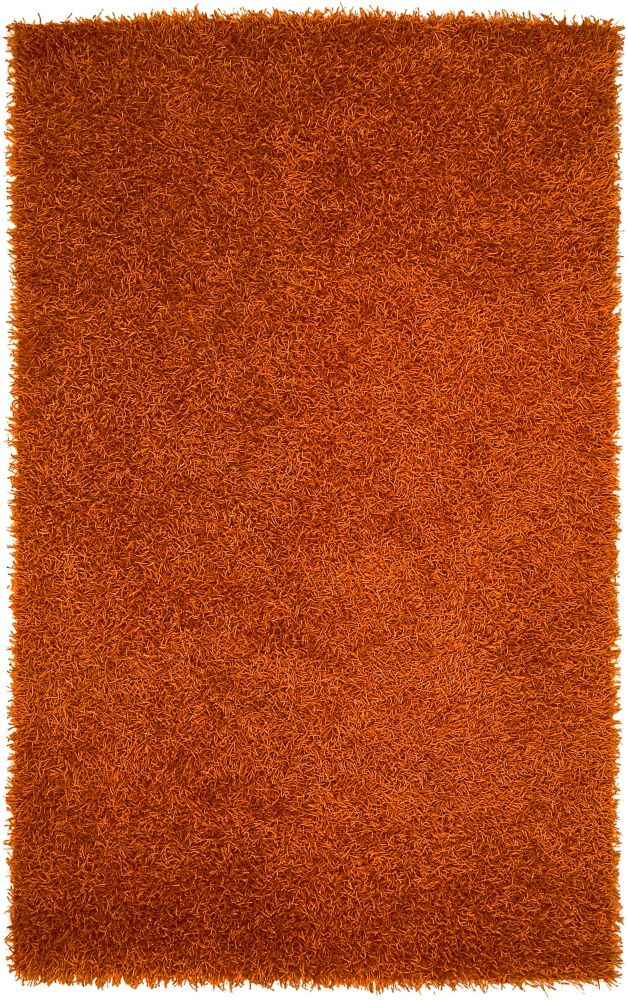 Cuthbaci Rust Polyester Shag 1 Ft. 9 In. x 2 Ft. 10 In. Accent Rug
