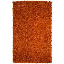 Artistic Weavers Carpette d'intérieur, 1 pi 9 po x 2 pi 10 po, à poils longs, rectangulaire, orange Cuthbaci