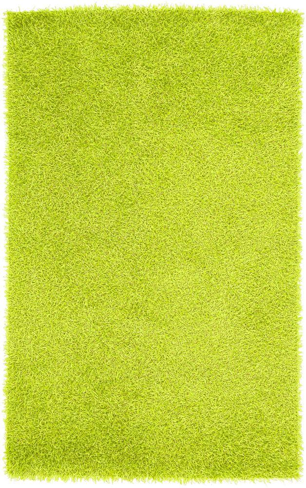 Vimeria Lime Polyester Shag 8 Ft. x 10 Ft. Area Rug