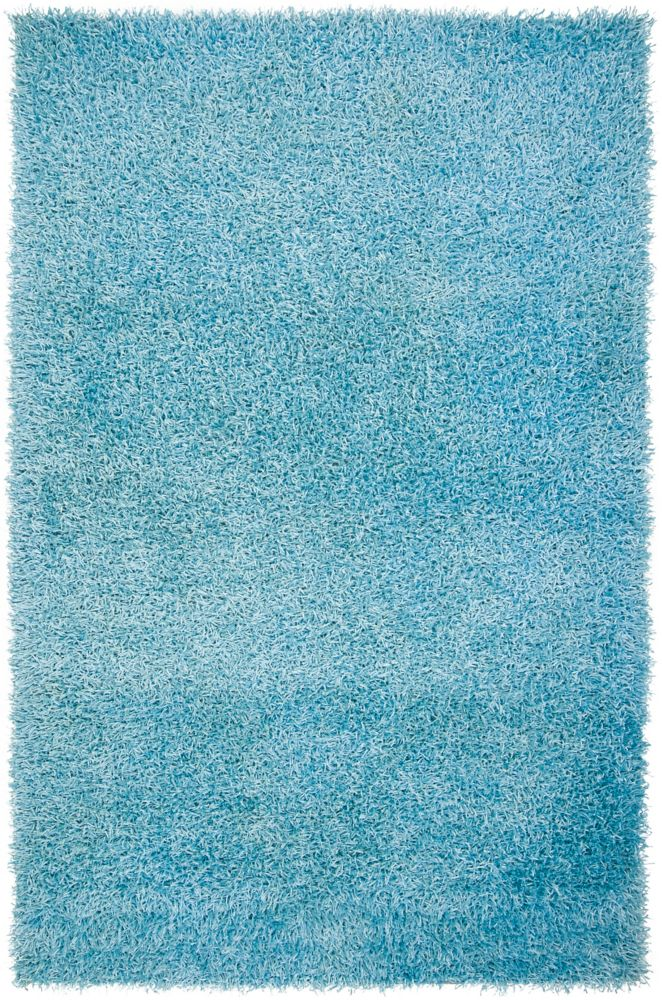 Orinduila Spa Blue Polyester Shag 1 Ft. 9 In. x 2 Ft. 10 In. Accent Rug