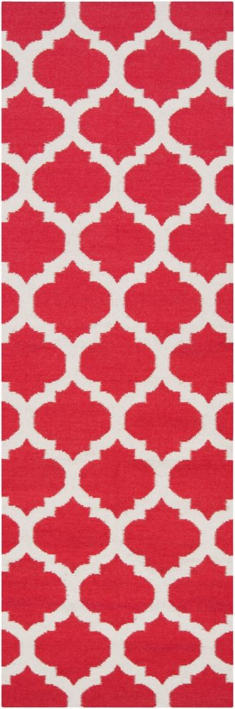Saffre Red 2 ft. 6-inch x 8 ft. Indoor Contemporary Runner
