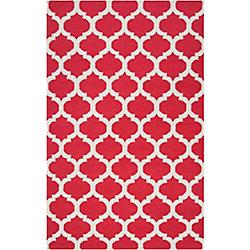 Artistic Weavers Carpette d'intérieur, 12 pi x 13 pi, style contemporain, rectangulaire, rouge Saffre