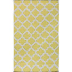 Artistic Weavers Carpette d'intérieur, 8 pi x 11 pi, style contemporain, rectangulaire, jaune Saffre