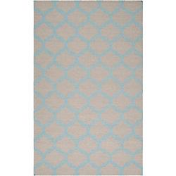 Artistic Weavers Carpette d'intérieur, 8 pi x 11 pi, style contemporain, rectangulaire, bleu Saffre