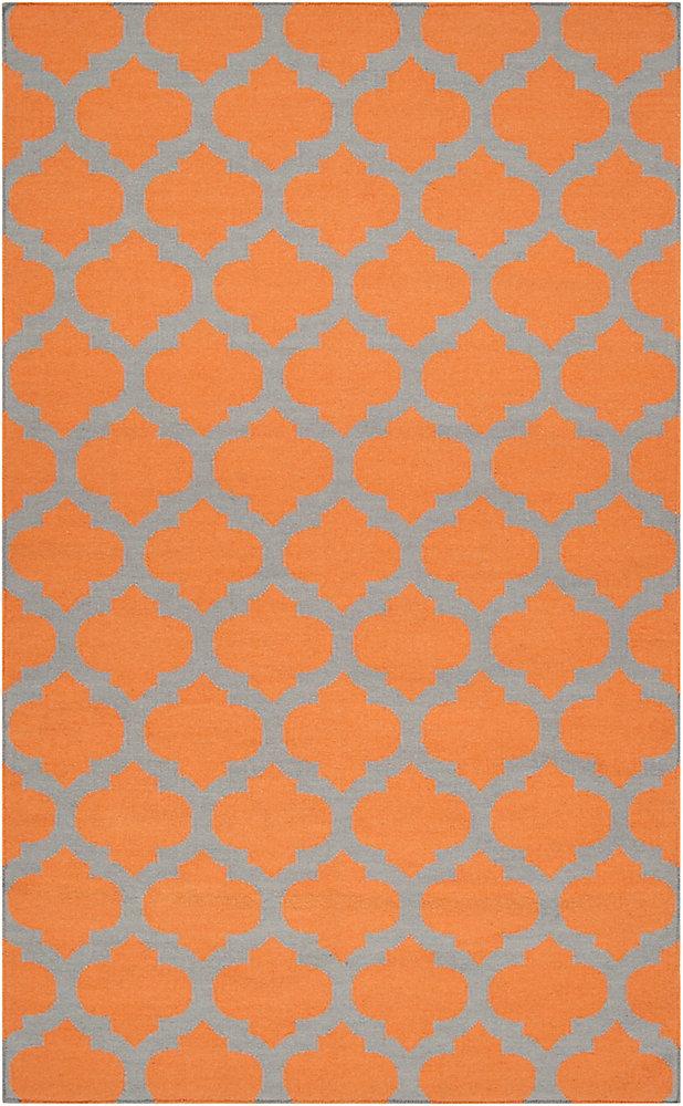 Saffre Orange 12 ft. x 13 ft. Indoor Contemporary Rectangular Area Rug