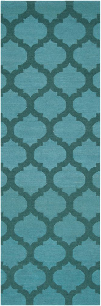 Saffre Blue 2 ft. 6-inch x 8 ft. Indoor Contemporary Runner