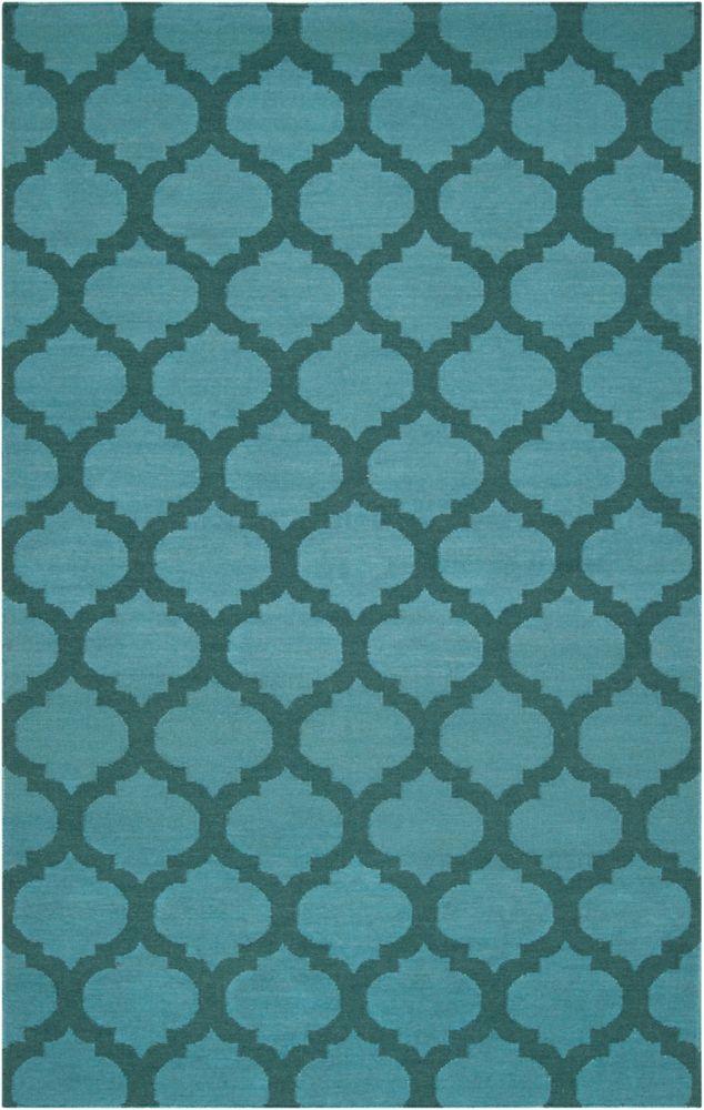 Saffre Sea Wool 3 Feet 6 Inch x 5 Feet 6 Inch Area Rug