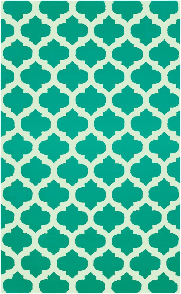 Saffre Jade Wool 5 Ft. x 8 Ft. Area Rug