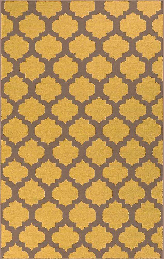 Saffre Brindle Wool 8 Feet x 11 Feet Area Rug