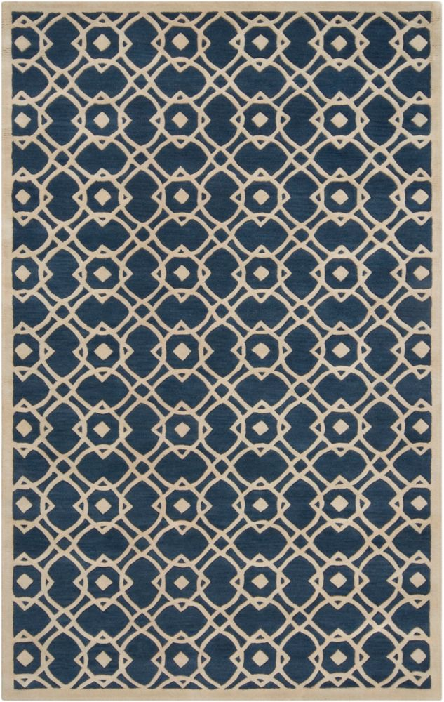 Taintrux Parchment New Zealand Wool  - 3 Ft. 6 In. x 5 Ft. 6 In. Area Rug
