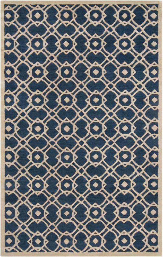 Tapis Taintrux parchemin en laine de Nouvelle-Zélande - 8 Po. x 11 Po.