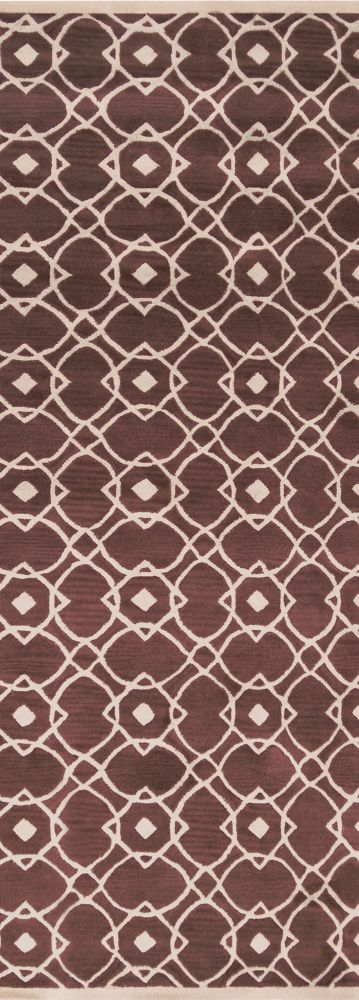 Taintrux Mauve New Zealand Wool Runner - 2 Ft. 6 In. x 8 Ft. Area Rug