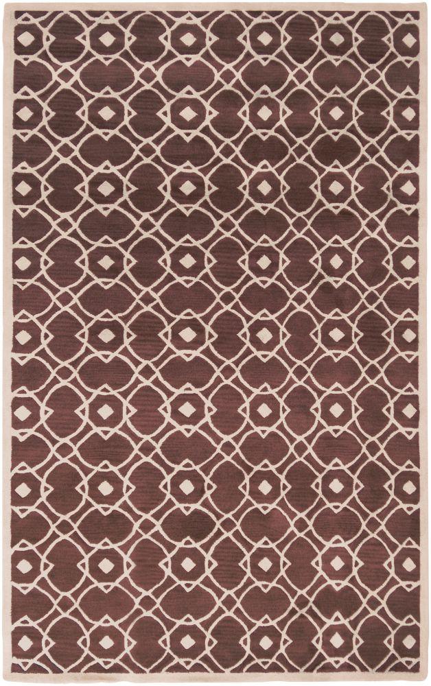 Taintrux Mauve New Zealand Wool  - 5 Ft. x 8 Ft. Area Rug