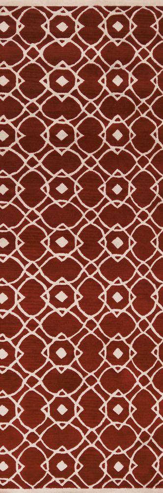 Tapis Taintrux argile en laine de Nouvelle-Zélande - 2 Po. 6 Pi. x 8 Po.
