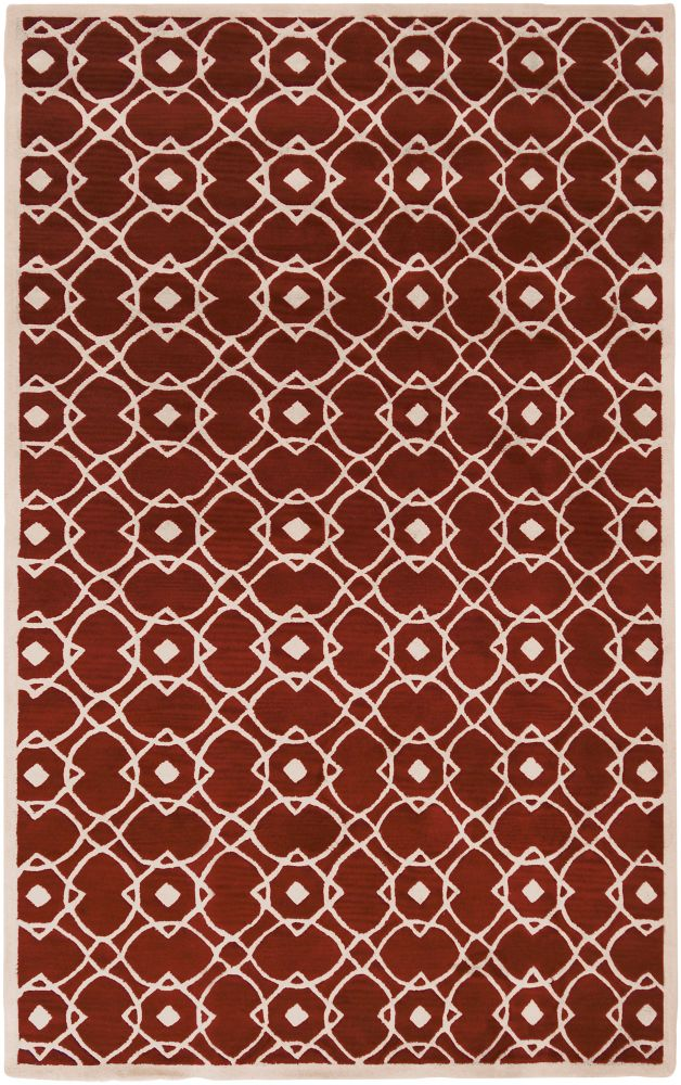 Taintrux Red 12 ft. x 13 ft. Indoor Contemporary Rectangular Area Rug