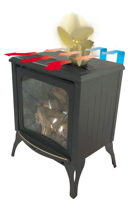 Home Depot Foyer Au Gaz : Ecofan ventilateur pour poêle à gaz belair act par