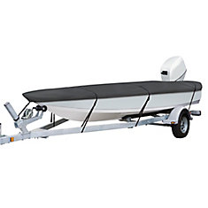 StormPro Heavy Duty Boat Cover with Support Pole, Fits 14 ft. - 16 ft. L x 75 inch W