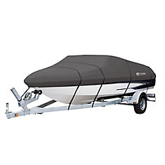 StormPro Heavy Duty Boat Cover with Support Pole, Fits Boats 16 ft.- 18.5 ft.L x 98 inchW